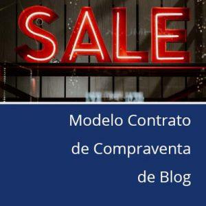 Modelo contrato de compraventa de blog